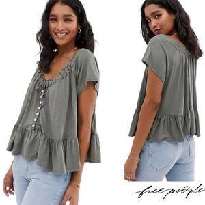 Free People Baby Doll Smock Top